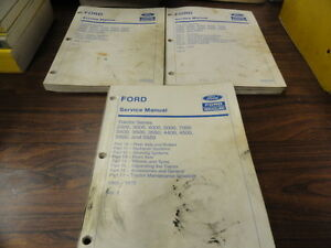 Ford 2000 3000 4000 5000 7000 5500 Tractor Technical Service Manual 3 Vol set