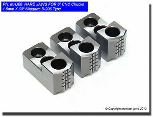 6 Hard Jaws For Kitagawa B 206 Type 1 5mm X 60 Cnc Lathe Chuck Hardened 3 New