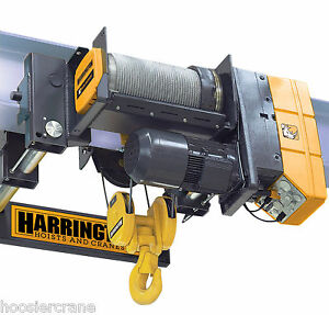 10 Ton Wire Rope Hoist 20 Feet Of Lift 230v Harrington Rhn Rhn10u 20c 20dd 2