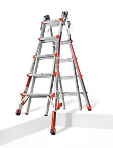 22 1a Demo Revolution Little Giant Ladder With Ratchet Levelers 12022 801