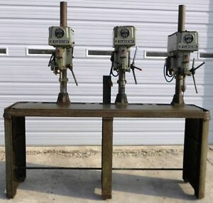 Clausing 3 Spindle Drill Press Model 1635 Serial 118950 118951 118952