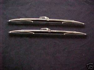 1955 55 56 57 Chevy Chevrolet Polished Stainless Steel Wiper Blades New