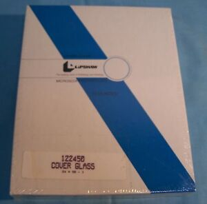 Lipshaw 122450 Crystal Clear Microscope Cover Glass Slide 1 2450