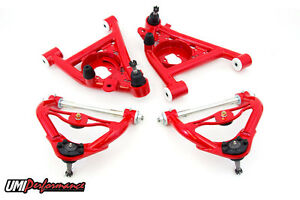 78 88 G body Monte Carlo Front Upper Lower A arm Kit Delrin Tall Ball Joints