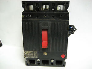General Electric 50 Amp 3 Pole Breaker W shunt Trip Thed136050 Yc 126