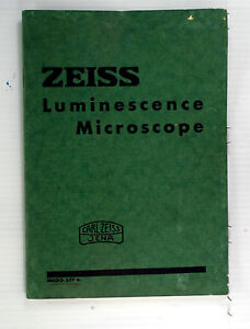 Original Zeiss Luminescene Microscope Sales Brochure Printed 1938