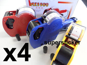 4 X Mx 5500 Eos 1 Line 8 Digits Price Tag Label Gun 4 Inks
