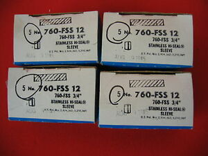 Imperial Eastman 760 fss Hi seal Armco Sleeve Bx Ofs Sold As 1 Lot Of 4