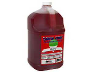 Snow Cone Shaved Ice Syrup 1 Cs 4 Gal mixed Flavors