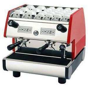 La Pavoni Commercial Espresso Machine Maker Pub 2v r Red 2 Group Volumetric