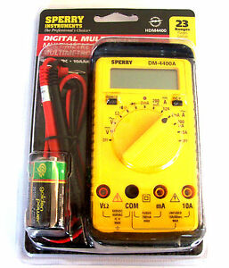Sperry Instruments Digital Multimeter Dm 4400a 8 Functions 23 Ranges Hdm4400