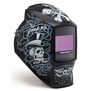 Miller Lucky s Speed Shop Digital Elite Auto Darkening Welding Helmet 281001