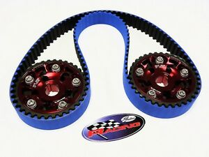 Vms 94 01 Acura Integra Gsr Type R Gates Racing Timing Belt 2 Cam Gears Set Red