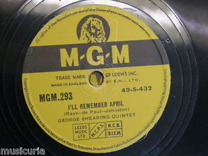 78 George Shearing I ll Remember April Jumping With Symphony Sid