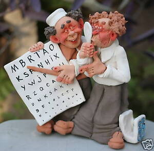 Optometry Optical Eye Doctor Patient Figurine Optician Glass Trial Contact Lens