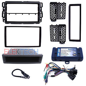 Radio Replacement With Steering Wheel Control Interface Dash Kit For Gmc chevy
