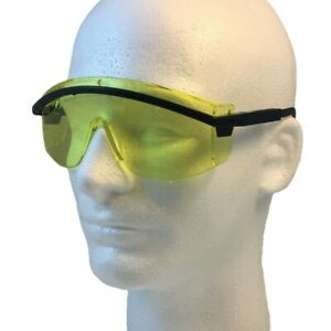Uvex Astro 3000 Safety Glasses Black Frame With Amber Lens Free Shipping