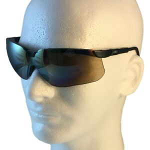 Uvex Genesis Safety Glasses Black Frame With Gold Mirror Lens