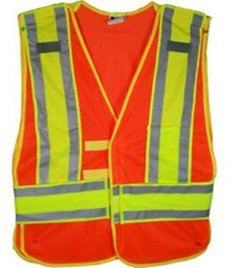 Orange Class Ii Mesh First Responder Safety Vest Standard Size