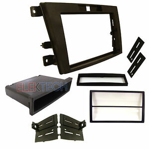 Radio Replacement Dash Mounting Kit Single Double Din W Pocket For Mazda Cx 7