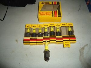 1958 1959 1960 Ford Lincoln Mercury Edsel Accel Spark Plugs Vintage Nos Parts