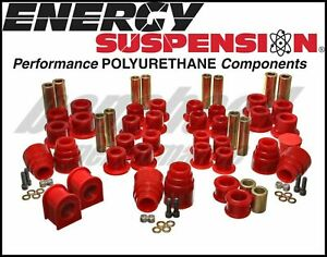 Energy Suspension 4 18120r Complete Master Bushing Kit 00 04 Ford Excursion 4wd