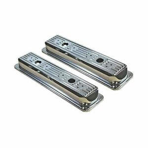 Small Block Chevy Short Style Center Bolt Chrome Valve Covers