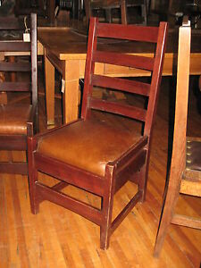 Mission Mahogany Desk Side Chair Gus Gustav Stickley 304 Arts Crafts