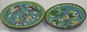 Two 1920 S Antique Chinese Ash Trays In Perfect Condition