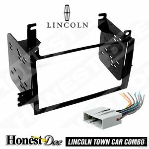 95 5810 Double Din Radio Install Dash Kit Wires For Town Car Car Stereo Mount