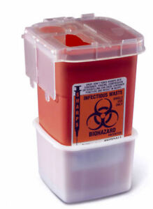 Medline 1 Quart Phlebotomy Sharps Disposal Container 100 case New Fast Shipping