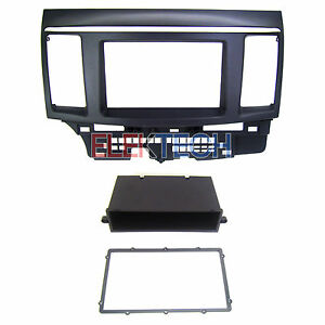 Dash Mount Radio Replace Kit Double Single Din W Pocket For Mitsubishi Lancer