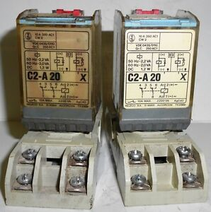 Releco Relay W Base lot Of 2 C2 a 20 X Serie Mr c