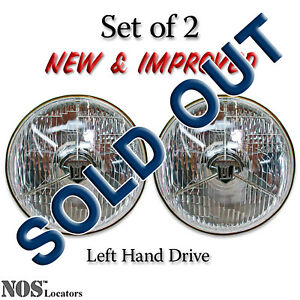 Lucas Pl700 7 Halogen Headlights Set Of 2 With Bulbs New Improved
