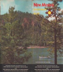 C1963 New Mexico Highway Map State Highway Department Official Road Map