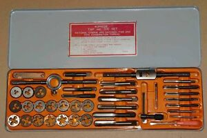 40 Piece Tap And Die Set Used w 2 2 3 2 1