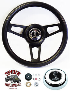 1984 1991 Mustang Steering Wheel Cobra 13 3 4 Black Spoke Steering Wheel