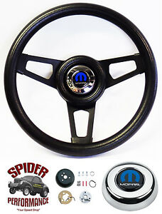 1982 1991 Dodge Pickup Steering Wheel Tilt Mopar 13 3 4 Black 3 Spoke Grant