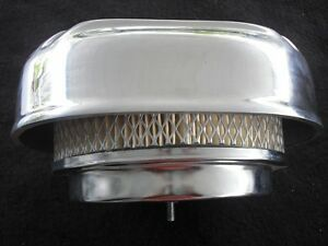 Hot Rod Rat Sb Chevy Finned 4 Barrel Air Cleaner 1