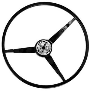 1965 1966 Mustang Steering Wheel Standard Black Dynacorn