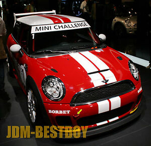 For Mini Cooper 4 Dual Rally Racing Bonnet Stripes Decal Sticker Vinyl Wrap