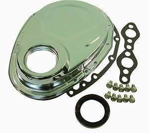 Small Block Chevy Chevrolet Timing Chain Cover Chrome 350 305 400