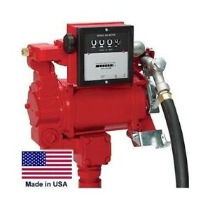 Dual Voltage Fuel Pump With Meter 115 230 Volt 3 4 Hp Ul cul Listed