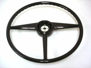 1953 1954 1955 Ford Pickup Truck Gloss Black Steering Wheel Fits Original Column