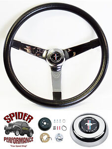 1965 1969 Mustang Steering Wheel Pony 14 3 4 Vintage Chrome