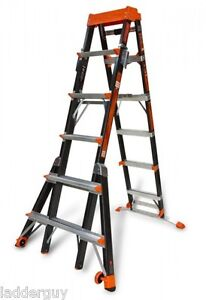 Little Giant Fiberglass Select Step Ladder 375lb Rated 6 10 W airdeck 15131