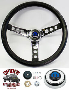 74 87 Ramcharger Dodge 4x4 Pickup Steering Wheel Mopar 13 1 2 Classic Chrome