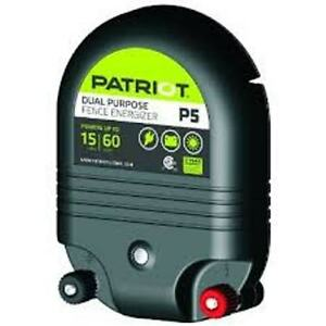 Patriot P5 Electric Fence Charger Energizer 15 Mile 5joule Ac Or Dc Powered