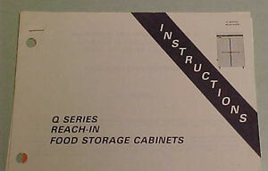 Hobart Q Series Reach In Food Storage Cabinets Refrigerator Instructions