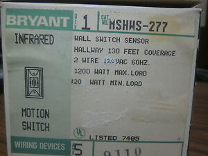 New Bryant Infrared Motion Switch Cat No Mshws 277 mm 770a